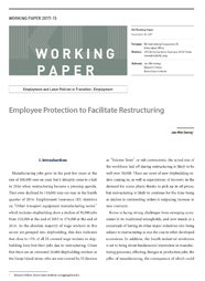 (Working Paper 2017-15/Employment and Labor Policies in Transition: Employment) Employee Protection to Facilitate Restructuring