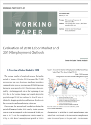 (Working Paper 2019-01) Evaluation of 2018 Labor Market and 2019 Employment Outlook