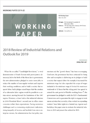 (Working Paper 2019-02) 2018 Review of Industrial Relations and Outlook for 2019