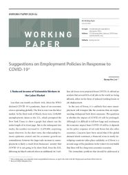 (Working Paper 2020-04) Suggestions on Employment Policies in Response to COVID-19