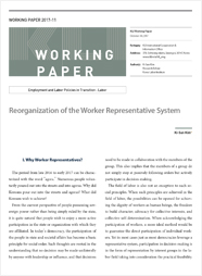 (Working Paper 2017-11/Employment and Labor Policies in Transition: Labor) Reorganization of the Worker Representative System